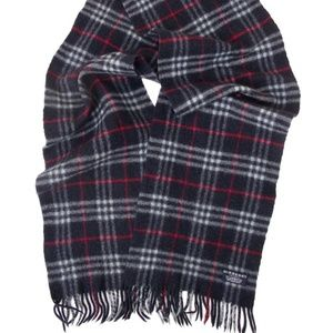 BURBERRY London Lambswool Scarf Navy NOVA Plaid